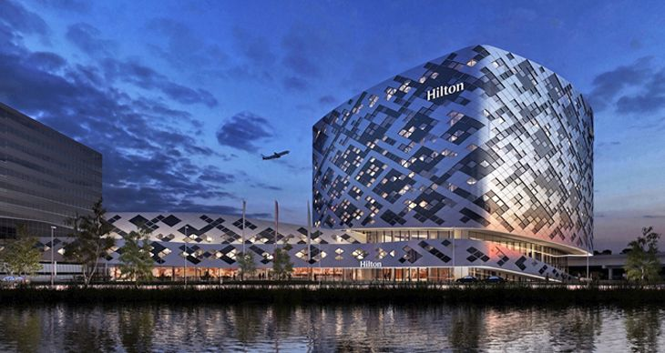 The new Hilton at Schiphol is in the heart of Amsterdam's airport. (Image: Hilton)