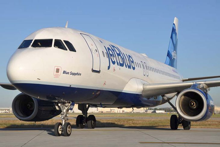JetBlue's A320s (pictured) and some A321s will get new seating and tech improvements. (Image: JetBlue)