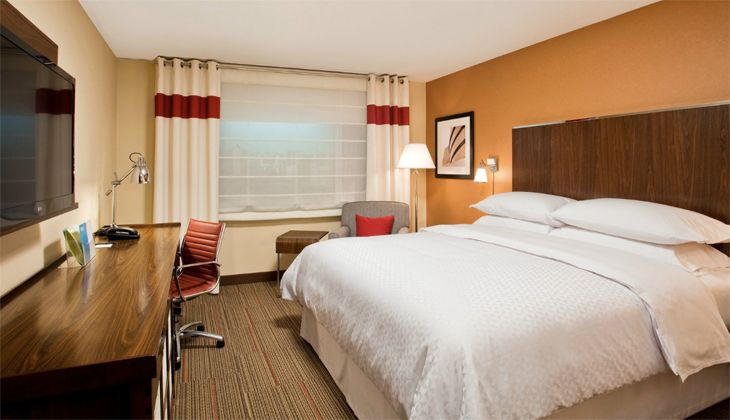 A guest room in the new Four Points by Sheraton in lower Manhattan. (Image: Four Points by Sheraton)
