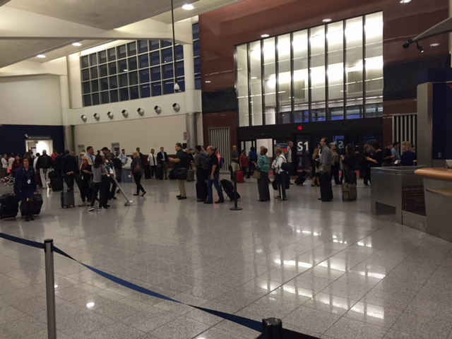 Increasingly common: Long lines snaking through Atlanta Airport (Photo: BJ)