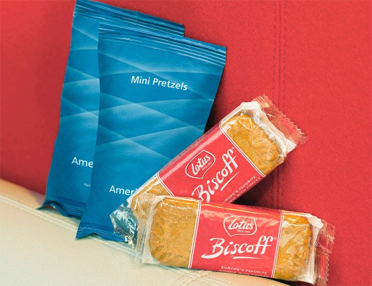 It's not much, but it's something: American's free economy snacks. (Image: American Airlines)
