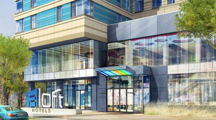 Starwood's new Aloft is across from Boston's convention center. (Image: Aloft Hotels)