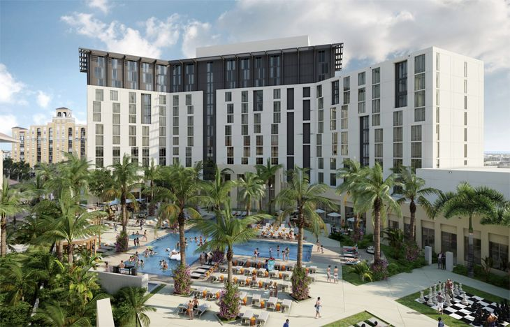 The new Hilton at the convention center in West Palm Beach. (Image: Hilton)