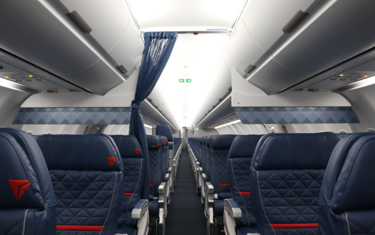 First class on a Delta A321