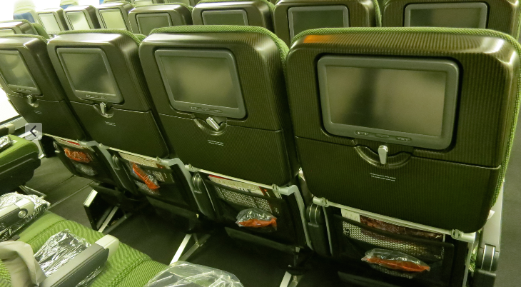 Economy class seat pitch is 31 inches on QANTAS 747 (Photo: Chris McGinnis)
