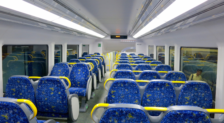 Plenty of room on the clean, modern & bright double decker trains to the city (Photo: Chris McGinnis)