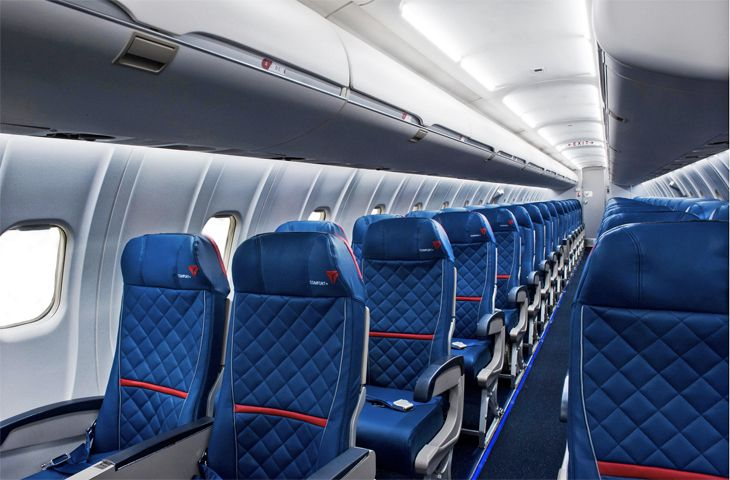 The new look coming to the cabins of Delta Connection regional jets. (Image: Delta)