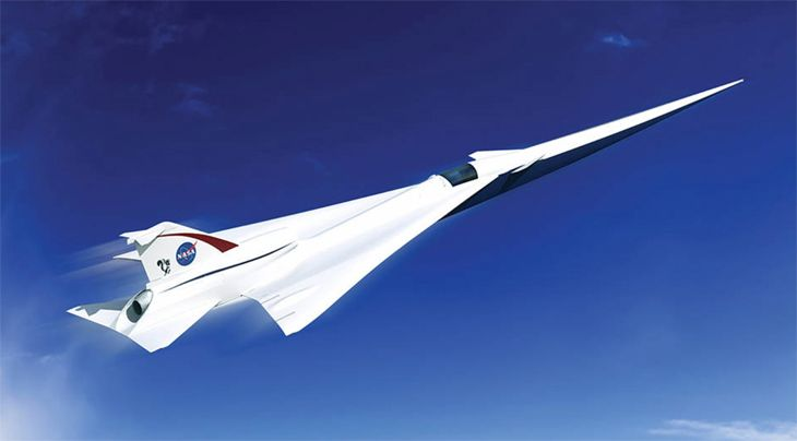 NASA's new SST design could fly over land without creating a sonic boom that disturbs the people below. (Image: NASA)