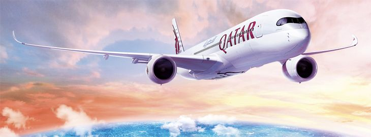 Qatar Airways is using an A350 on its new Boston-Doha route. (Image: Qatar Airways)