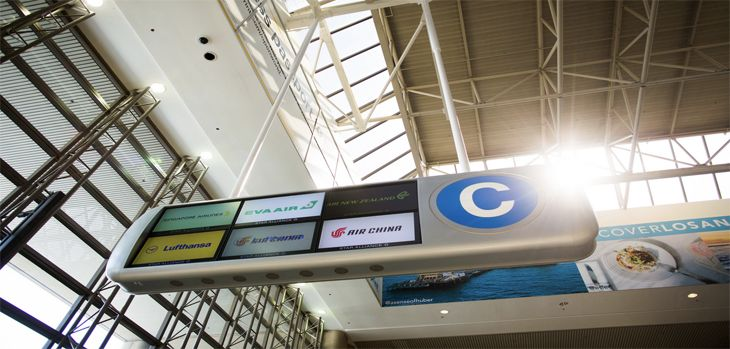 Part of the signage for Star Alliance's new Aisle C in the Bradley Terminal at LAX. (Image: Star Alliance)