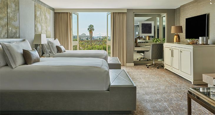 A guest suite at the Viceroy L'Ermitage in Beverly Hills. (Image: Viceroy Hotels)