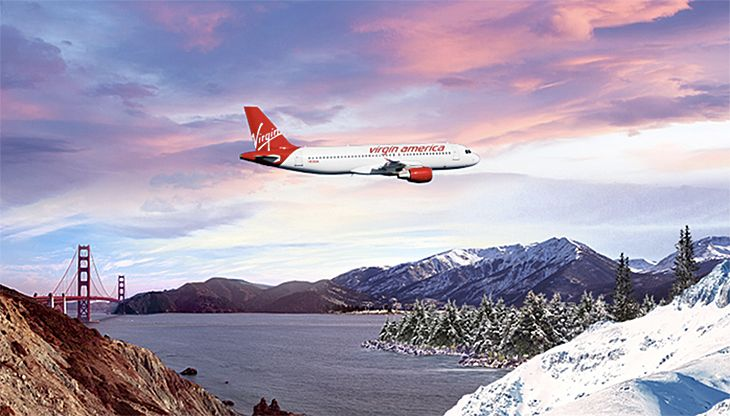 Virgin America's new route links the Bay Area with the Rocky Mountains. (Image: Virgin America)
