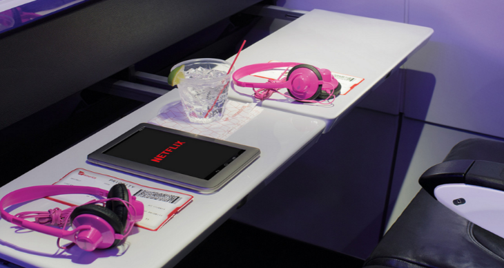 Virgin America's new satellite based wi-fi is fast enough to stream movies (Image: Virgin America)
