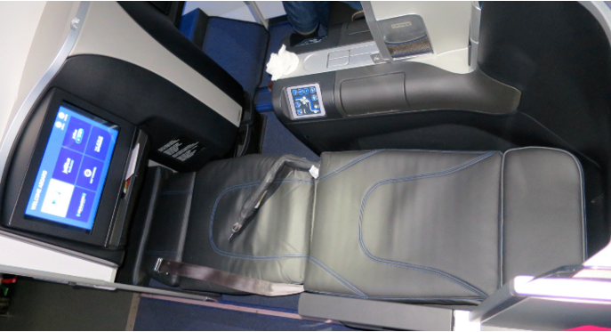 JetBlue's lie flat Mint class seat fully reclined (Chris McGinnis)