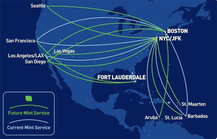 JetBlue has big plans for expanding its Mint service. (Image: JetBlue)