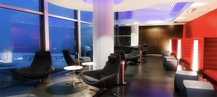 Virgin America's Elevate elites get free or discounted access to the airline's Loft lounge at LAX. (Image: Virgin America)
