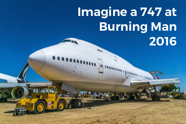 Part of a 747 organizers hope to transport to the Nevada desert (Photo: Big Imagination Foundation)