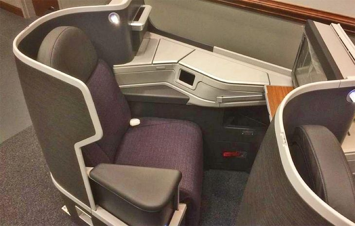 American Airlines' new international business class seat. (Image: American)