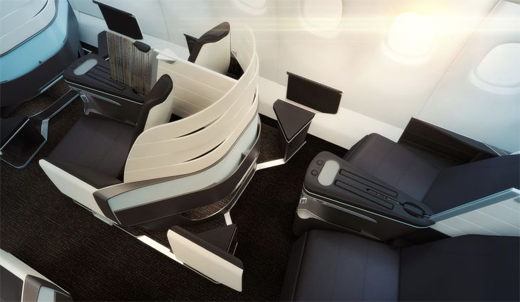 Premium Cabin seats have adjustable privacy dividers. (Image: Hawaiian)