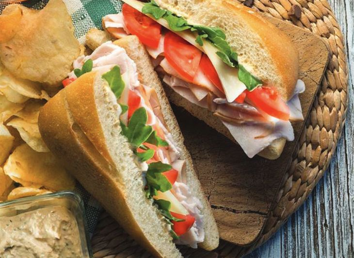 A mesquite smoked turkey and apple sdandwich highlights Delta's new Flight Fuel menu. (Image: Delta)
