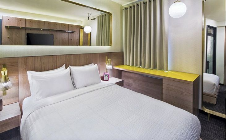 Guest accommodations at the new Shocard near Times Square. (Image: The Shocard)
