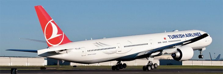 Turkish Airlines is using a 777-300ER on its new Atlanta route. (Image: Boeing