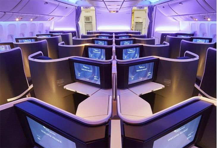 Virgin Australia's new business seats have 18,5-inch touchscreens. (Image: Virgin Australia)