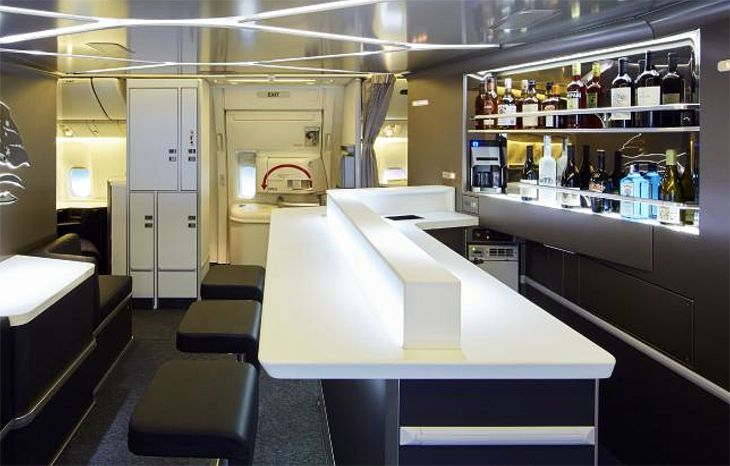 Another nice new touch: a business class bar! (Image: Virgin Australia)