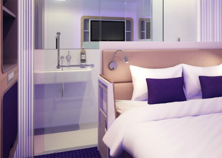 "A typical guest ""cabin"" at Paris CDG's new Yotel. (Image: Yotel)"
