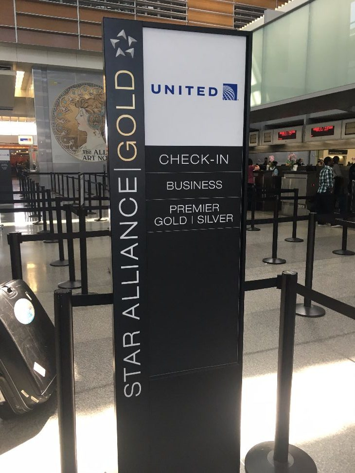 International Premium Check-in at SFO (Photo: Dan Erwin)