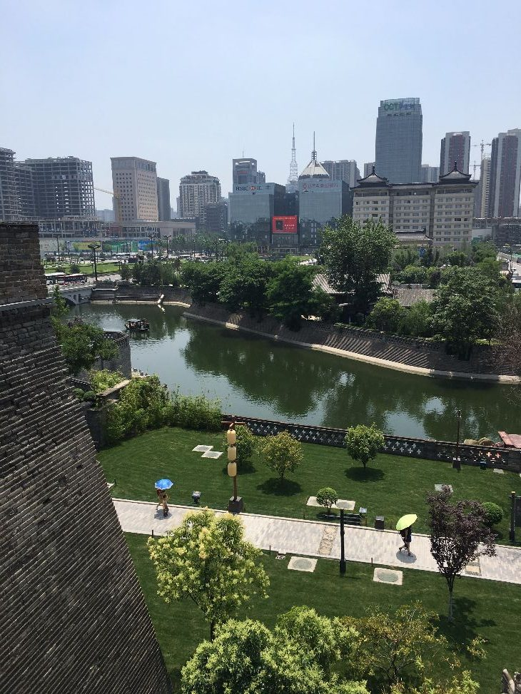 View of Xi'an from the city wall (Photo: Dan Erwin)