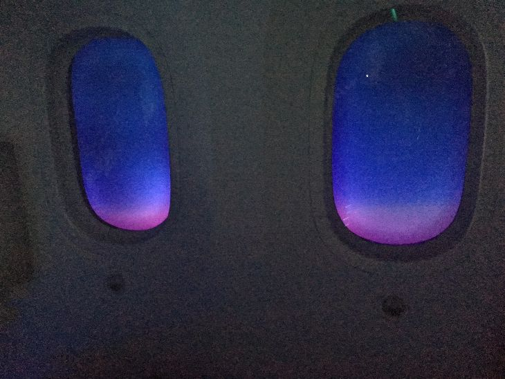 Nice serene lighting for a mid flight nap (Photo: Dan Erwin)