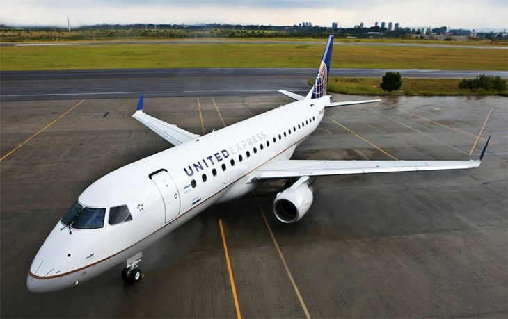 United continues to replace small regional jets with larger ones like this Embraer 175. (Image: United)