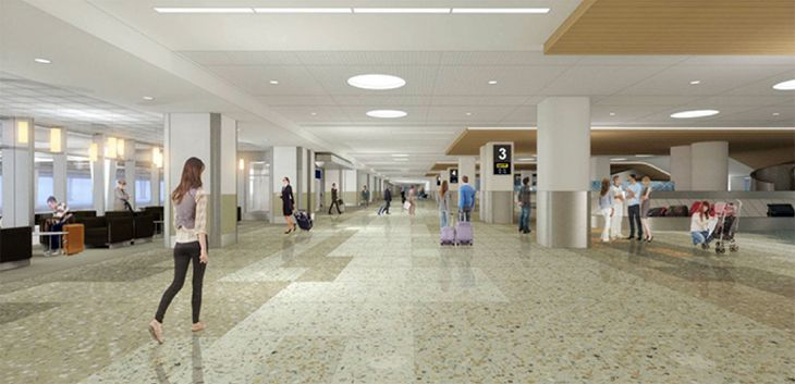 Rendering of the renovated baggage area at MSP's Terminal 1. (Image: Minneapolis Airports Commission)