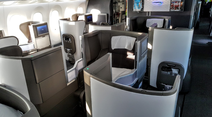 British Airways 787-9 middle seat