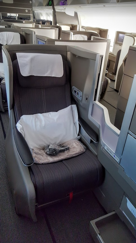 British Airways Club business class 787