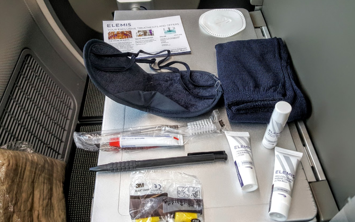 British Airways amenity kit