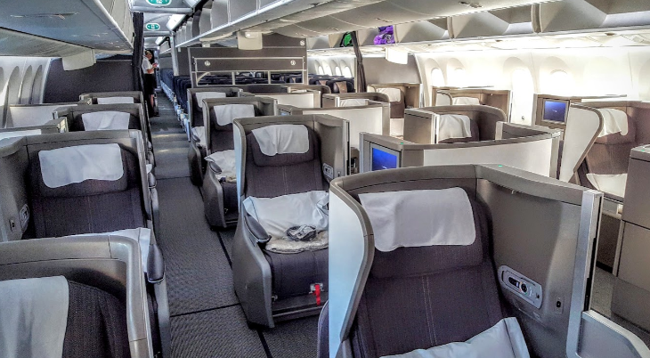 British Airways business class club world