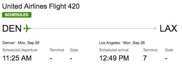 United's flight 420 originates in Denver. Coincidence? Probably not!