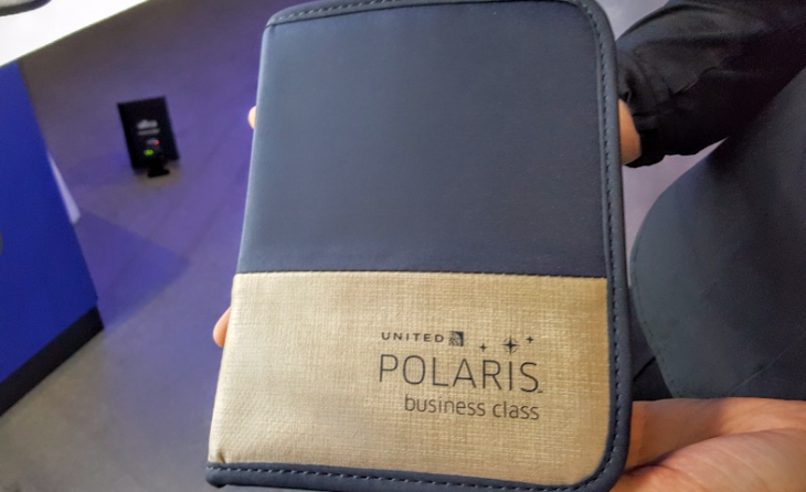 United Polaris amenity kit (Scott Hintz)