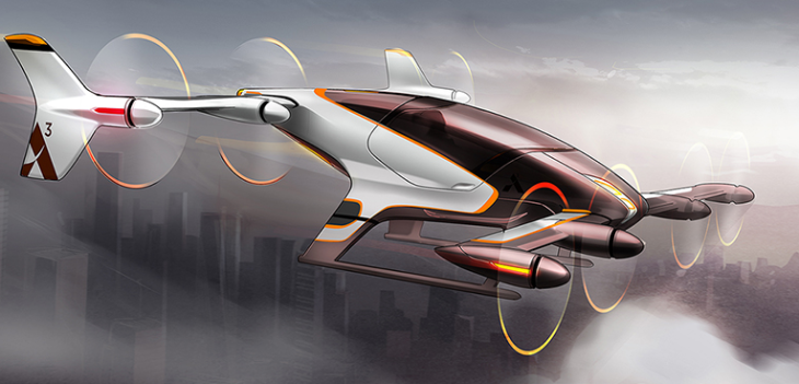 A proposed flying taxi- let's go! (Image: Airbus)