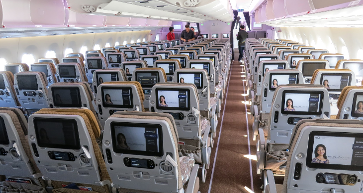 Singapore Airlines A350 economy class