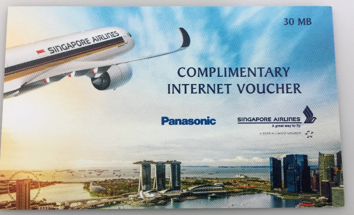 Business class passengers get voucher for 30 MB free internet