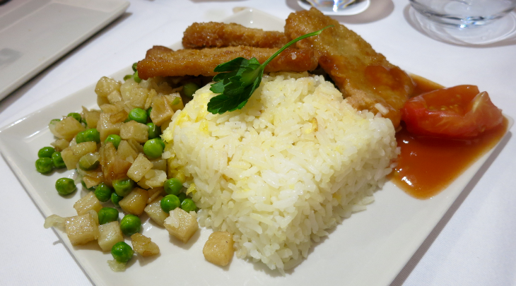 Hainanese pork chop with fried rice (Photo Chris McGinnis)