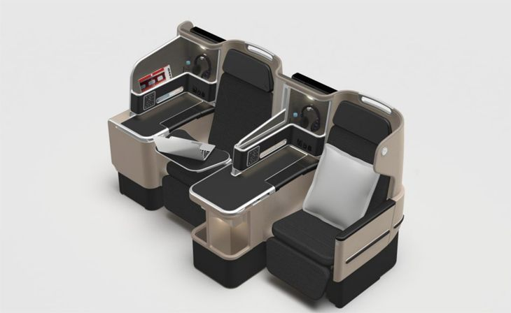 New 787-9 business suites are an update of the business cabins on Qantas' A330s. (Image: Qantas)
