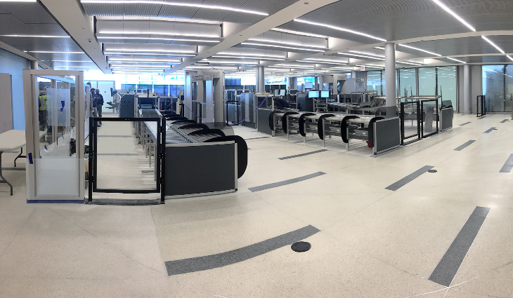 TSA Security lanes