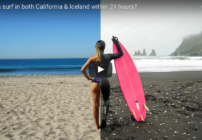 Dude! How to go surfing in California & Iceland in one day