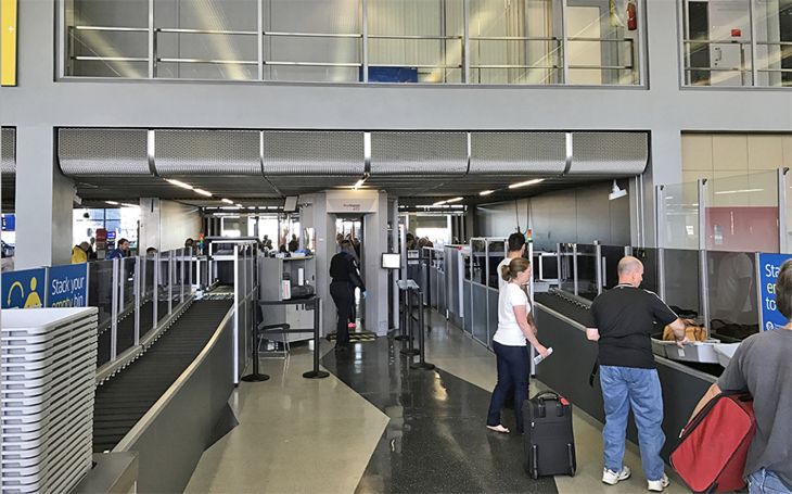 New automated TSA screening lanes in American's Terminal 3 at Chicago O'Hare. (Image: American Airlines)
