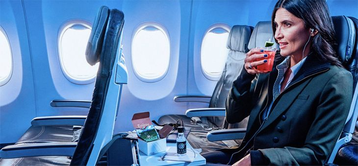 Alaska's Premium Class customers will get free drinks and snacks in addition to more legroom.(Image: Alaska Airlines)