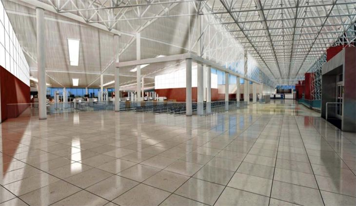 The new D/E Connector and security checkpoint at BWI. (Image: Baltimore Washington Airport)